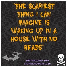 Happy Halloween from AllFreeJewelryMaking.com; we love our beads! Love it! www.mobile-boutique.com