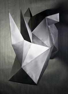 TRIANGULATED: Geometric Animal Busts - Series I by Keaton Van't Hull, via Behance