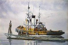"""""""MAGIC"""" - watercolor, in Tugboat Paintings"""