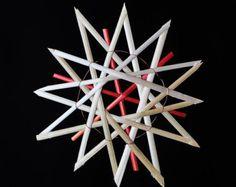"""4,5"""" Straw Star Ornament"""