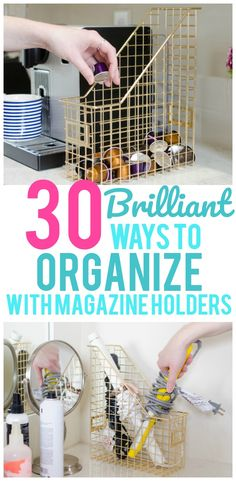 This Post May Contain Affiliate Links.Who would have ever thought you could use a magazine holder for anything other than magazines? But to our surprise there are so many ways to use magazine holders to organize your home! Seriously! Pantry storage, toiletry storage, hiding your wireless router…even organizing your freezer. The thing you can do... View Post