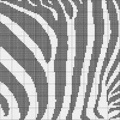Zebra print Cross Stitch