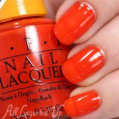 OPI Chromatic Orange swatch - Color Paints via @alllacqueredup