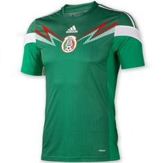 adidas Mexico 2013-14 Official Home Soccer Jersey - model G86985
