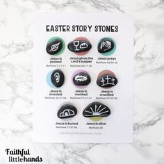 Easter Story Stones Activity Page