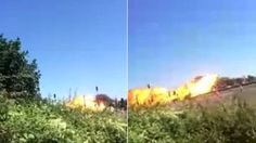 Terrifying footage has emerged from the Hawker Hunter plane crash at Shoreham Airshow.
