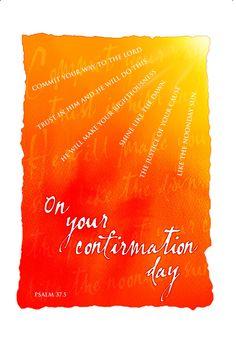Confirmation Cards - Sun