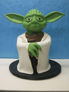 Yoda by LovelyCakes.net, via Flickr Best Yoda cake I've seen so far.