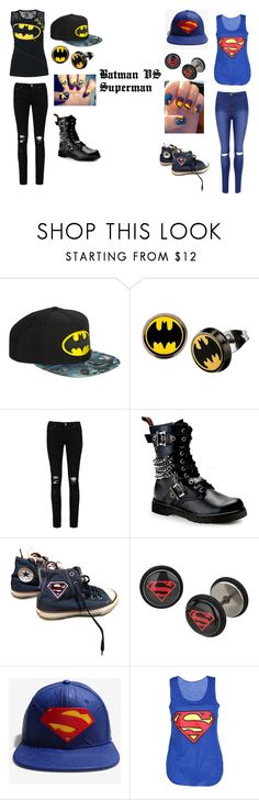 """""""Batman VS Superman"""" by kelbel2231 on Polyvore featuring Boohoo, Demonia, Converse and WearAll"""