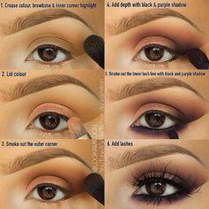 Brown & Purple Smokey Eye Pictorial