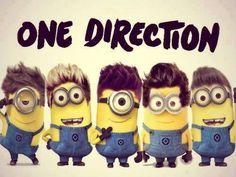 One Direction Minions HILARIOUS! I dont like one direction, but looooove minions! Zayn Malik, Niall Horan, One Direction Minions, I Love One Direction, Image Minions, Cute Minions, Minion Stuff, Minions Minions, Funny Minion