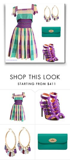 """""""Spring Plaid"""" by steviesbug ❤ liked on Polyvore featuring Bob Mackie, Roland Mouret, Mulberry, mulberry, RolandMouret, neimanmarcus and bobmackie"""