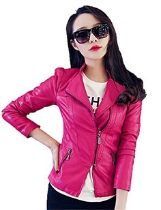 My Wonderful World Women's Biker Faux Zipper Moto Bomber Blazer Medium Rose Red My Wonderful World Blazer Coat Jacket http://www.amazon.com/dp/B018AK39M2/ref=cm_sw_r_pi_dp_sqeuwb1J37CJ9