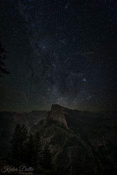 Perseid Meteor Shower over Half Dome  js