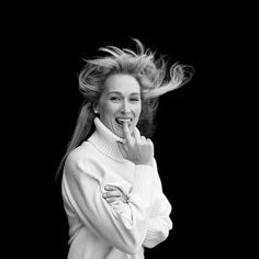 """""""I did not realize she was thinking she wasn't beautiful enough, because to me she was so beautiful,"""" says Brigitte Lacombe, who took this photo of Meryl in 1988"""