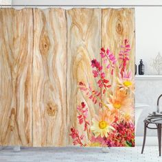 Spring Florals Daisies Shower Curtain – joocarhome Rustic Shower Curtains, Curtain Store, Square Tables, Table Covers, Table Linens, Daisies, Your Pet, Florals, Margaritas