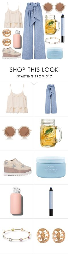 """""""summer breeze"""" by cheeky-chappy ❤ liked on Polyvore featuring MANGO, MSGM, House of Holland, STELLA McCARTNEY, Aveda, shu uemura, Ippolita and Chanel"""