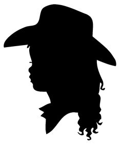 Little Cowgirl Silhouette Template/ Stencil/ Sjabloon. Great for a Cowgirls Room Wall Painting by ahintofchicboutique @Emily Schoenfeld