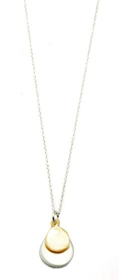 Two tone tear drop necklace from the Lavender Collection
