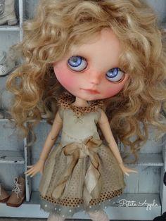 Blythe outfit *the secret trunk* vintage style dress by marina, $58.00 USD
