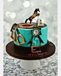 Birthday cake horse riding sport gateau d 39 anniversaire equitation sport verjaardagstaart - Decoration gateau cheval ...