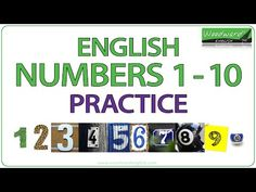 This is a fun activity to practice the numbers from 1 to 10 in English. We show photos of numbers in real-life situations. Above each number is the question . Learn English Grammar, English Vocabulary Words, English Lessons, English Language, Spanish Numbers, Numbers 1 10, Woodward English, Learning Spanish, Learning English