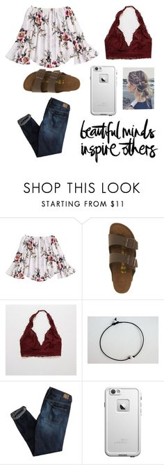 """""""Lookin good :)"""" by sincerely-emily ❤ liked on Polyvore featuring Birkenstock, Aerie, American Eagle Outfitters, LifeProof and Butter London"""
