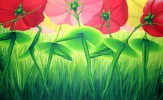 Les dessous fleuris - Flowery bottoms by Manon Potvin