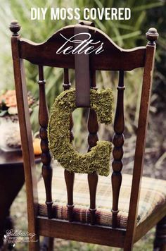DIY Moss Covered Letter tutorial from Celebrating Everyday Life blog