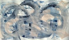 NG Collective Studio, 'Linger', Mixed Media on Paper, 42x75 - Anne Irwin Fine Art
