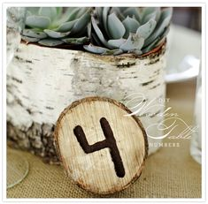 this is marked as a wedding table number, but it'd be cute as house numbers