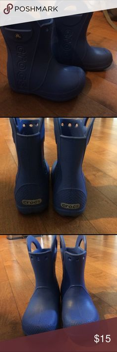 Crocs rain boots Crocs rain boots size toddler 9 in blue could be for either boys or girls. CROCS Shoes Boots