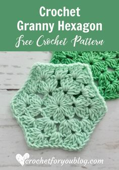 Crochet Granny Hexagon Free Pattern - Crochet For You Crochet Blocks, Crochet Hexagon Blanket, Hexagon Crochet Pattern, Crochet Stitches Patterns, Crochet Granny Squares, Crochet Designs, Crochet Motif, Heart Granny Square, Granny Square Blanket
