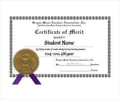 Merit Certificate Sample 17 Job Certificate Samples  Free Word & Pdf  Office Work .