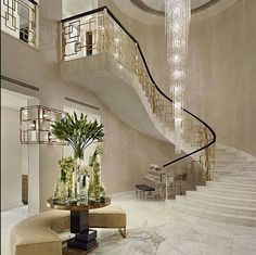 Luxury staircase with modern twist