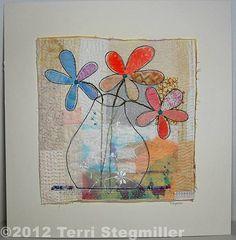 Vase -  Art Quilt Wall Hanging