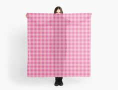 Buffalo plaid in baby pink. Classic pattern. by linepush