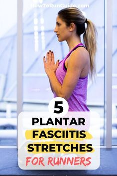 Plantar fasciitis is the bane of many runners' existence during training. Do these 5 easy plantar fasciitis stretches for runners & reduce the pain asap. Running Injuries, Running Workouts, Running Tips, Running For Beginners, How To Start Running, Plantar Fasciitis Stretches, Running With Plantar Fasciitis, Half Marathon Training, Marathon Tips