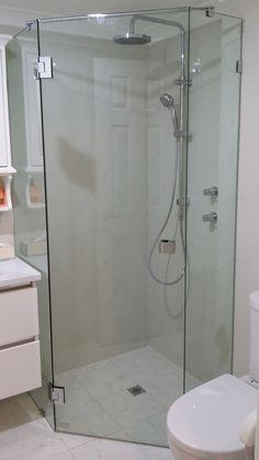 frameless corner shower - Google Search