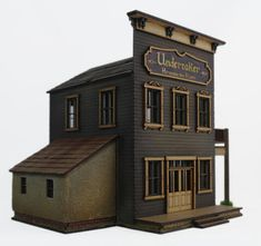 Cool Bird Houses, Saloon Decor, Minecraft, Old Western Towns, Old West Town, Architectural Scale, Putz Houses, Glitter Houses, Model Train Layouts