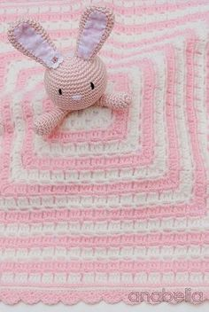 Bunny security crochet blanket by Anabelia Craft Design-free pattern