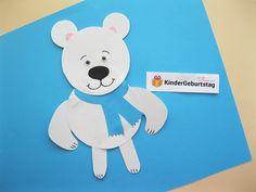 Eisbär aus Papier mit den Kindern basteln