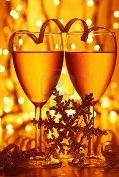 Romantic holiday drink, celebration of Christmas