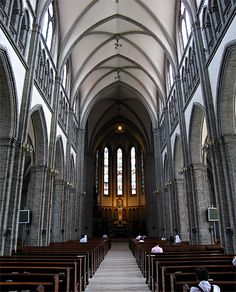 Inside the Myeongdong Cathedral Myeongdong neighborhood of Jung-gu Seoul South Korea. North South, North Korea, Places Ive Been, Places To Visit, Korean Wave, Beijing, Seoul, Bali, The Neighbourhood