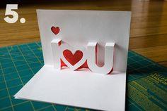 Cute pop-up DIY valentine idea!