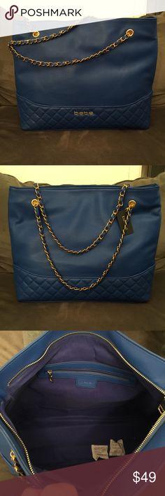Bebe shoulder bag Beautiful blue leather Bebe shoulder bag. Brand new bebe Bags Shoulder Bags