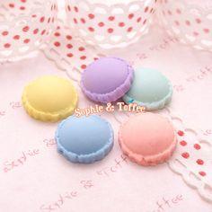 DIY Small Pastel Macaroon 10pcs (5 Pairs) Miniature Sweets Kawaii Cabochon Decoden Pieces on Etsy, $5.39