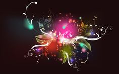 Amazing Art Picture Colorful Light Make a Flower Shape HD Wallpaper