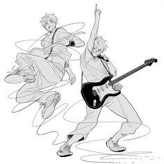 Runko, Axis Powers: Hetalia, United Kingdom, United States, Pointing Up, Guitar