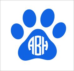 Paw Monogram Decal Car Decal Vinyl Decal by CustomVinylbyBridge, $9.00